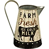 Rustic Distressed Metal Farm Fresh Milk Pitcher or Watering Can, Vase, or Jug by Primatives by Kathy