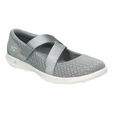 Buy Skechers Women's GO Walk LITE Divine Gray Walking Shoe