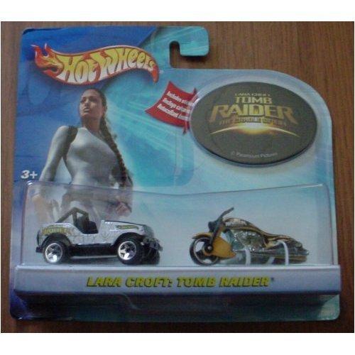 (Hot Wheels Tomb Raider Lara Croft 2 Car Set Jeep Scorchin' Scooter)