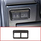 YIWANG ABS Car Interior Tail Door Switch Button Frame Trim 1Pc for Land Rover Discovery Sport 2015-2017 Car Accessories(High Match) (Carbon Fiber)