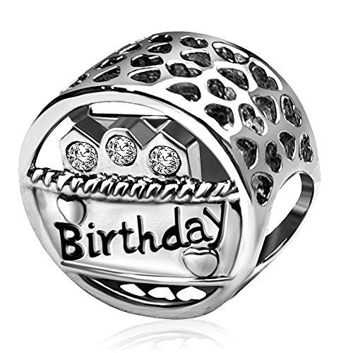 JMQJewelry Birthday Cake White Charms Beads Bracelets