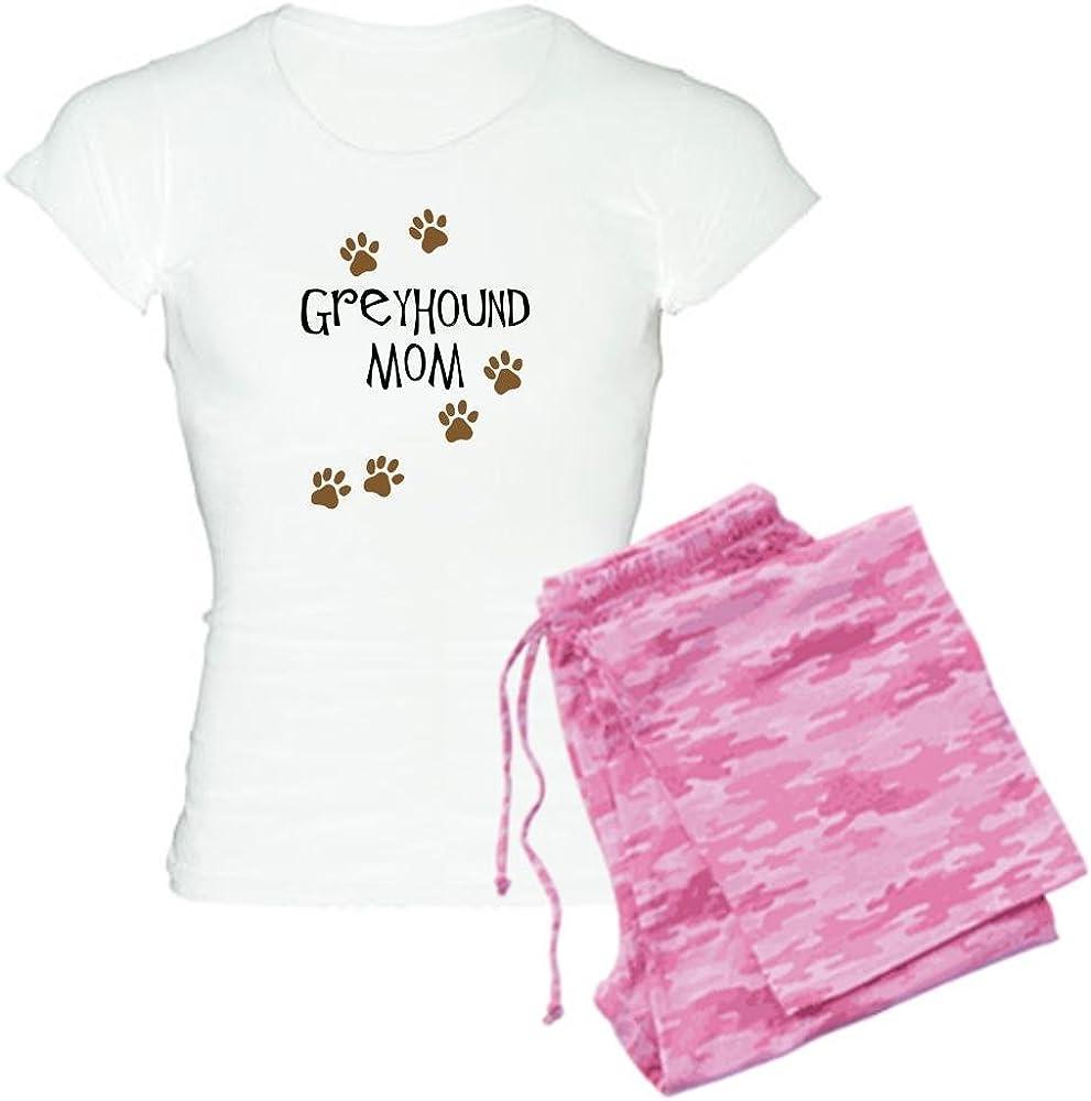 Comfortable PJ Sleepwear CafePress-Greyhound Mom Womens Light Pajamas-Womens Novelty Cotton Pajama Set
