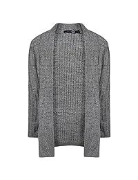 RM Fashions Girls Knitted Waterfall Crochet Cardigan (Size 5/6- 11/12)