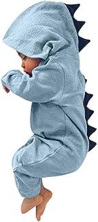 SUMTTER Neonato Infantile Bambino Ragazzo Ragazza Dinosauro Cappuccio Pagliaccetto Tuta