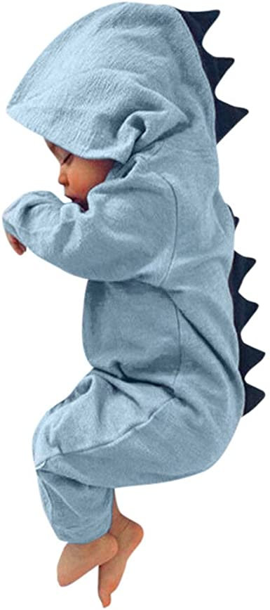 Cute Baby Boys Girls Dinosaur Romper Long Pants Jumpsuit Summer Clothes Outfits