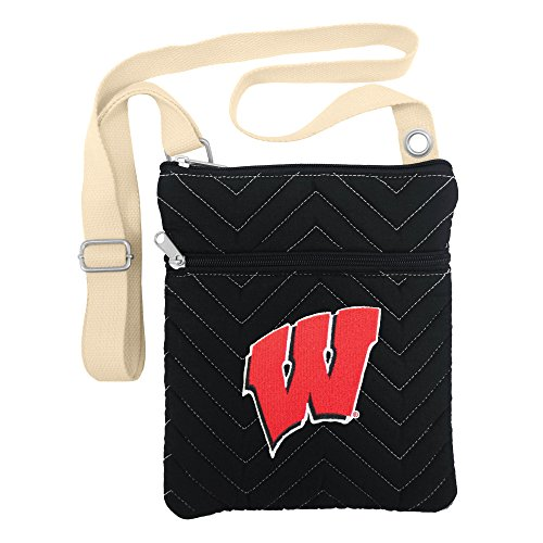 (NCAA Wisconsin Badgers Chev-Stitch Cross Body)