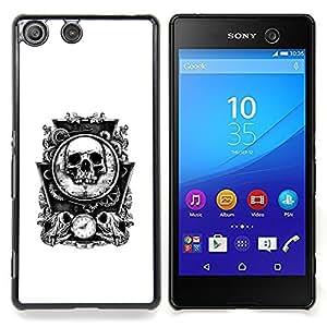 - Bones Skull Mirror White Time Death/ Duro Snap en el tel????fono celular de la cubierta - Cao - For Sony Xperia M5