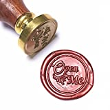 UNIQOOO Arts & Crafts Open Me Wax Seal Stamp, Great for Embellishment of Envelope, Post Card, Snail Mail, Invitations, Wine Packages, Gift Decoration, etc-Gift Idea for Artistic Types