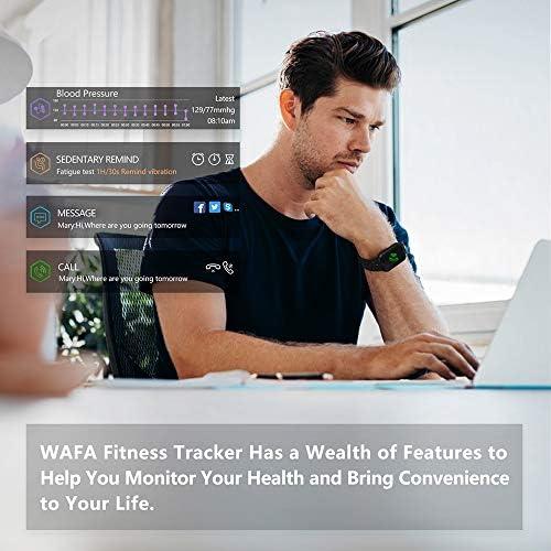 WAFA Fitness Tracker with Heart Rate Blood Pressure Monitor, Waterproof Fitness Watch, Bluetooth Smart Watch with Sleep Sports Data Monitor GPS Activity Tracker Pedometer Watch for Kids Women Men 6