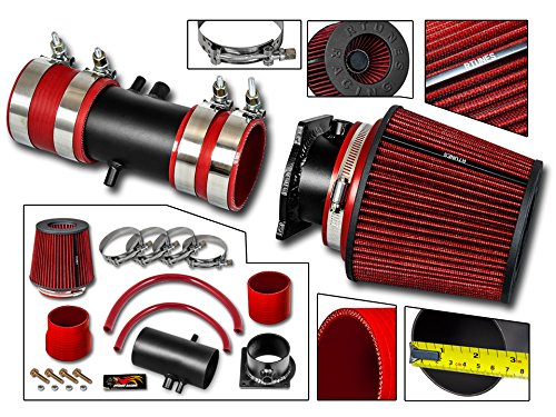 R&L racing MATT BLACK Short Ram Air Intake Kit For 95-00 Ford Contour 2.5L V6 / 98-02 Cougar/Mystique 2.5L V6