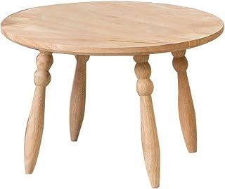 ZWD Tavolino in legno massello, tavolino da salotto con tavolino rotondo per famiglie Tavolino da salotto per bambini con tavolo da disegno decorativo Mobilia ( dimensioni : 44.5*44.5*38CM )