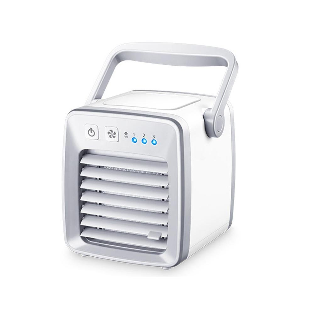 Inverlee USB Charging Air Conditioner Fan Mini Portable Refrigerator Cooler Table Fan (White)