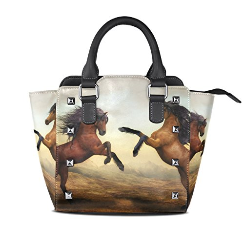 Bennigiry Rivet Bag Purse PU Wild Bag Tote Leather Horse Women's Shoulder BrqBzwtf