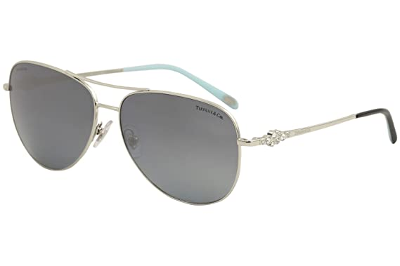 5b9c9041d27d Image Unavailable. Image not available for. Color  Tiffany   Co. Women  TF3052B 59 Silver Blue Sunglasses 59mm