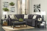 Ashley Alenya 16601-55-67 2PC Sectional Sofa with Left Arm Facing Loveseat Right Arm Facing Sofa Pillows with Print Pattern and Track Arms in