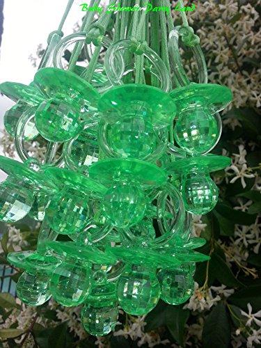 (Large Fancy Pacifier Diamond Cut Necklaces Baby Shower Game Favors Prizes Decor U-Pick Color)