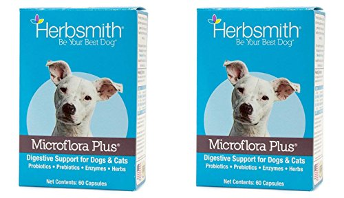 Threshold Enterprises LTD Deals Herbsmith Microflora Plus Capsule Pet Digestion (2 Pack) by Threshold Enterprises LTD Deals
