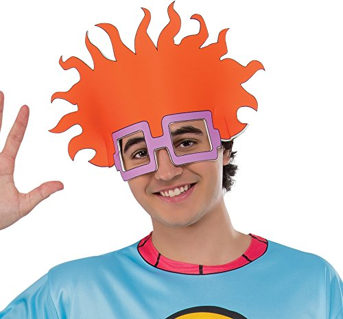 Rubie's Costume Co Men's Splat Rugrats Finster Costume Top and Headpiece, Chuckie, (Adult Pickle Costumes)