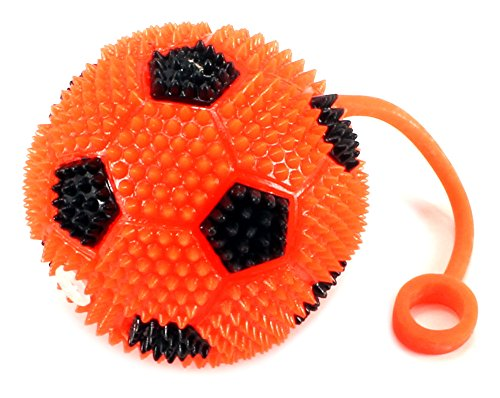 (Light Up LED 'Soccer Ball' Children's Kid's Toy Yoyo Ball (Colors May)