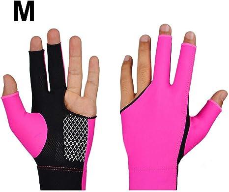 fancylande guantes billar, 2 piezas de guante billar Pool 3 manos ...