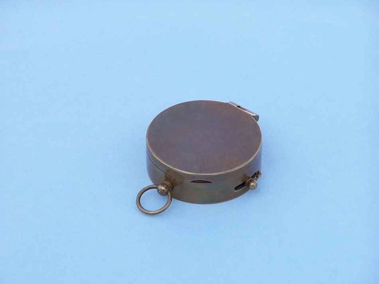 3 Hampton Nautical  CO-0592-BZ Lewis and Clark Pocket Compass Bronze
