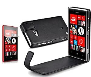 Pure Color Vertical Flip Leather Case for Nokia Lumia 720 (Black)