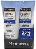 Neutrogena Ultra Sheer Spf#45 Lotion Twin Pack 3oz (3 Pack)