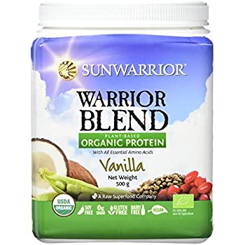 Sunwarrior - Warrior Blend, Raw, Plant-Based Protein, Vanilla, 20 Servings (1.1 lbs)