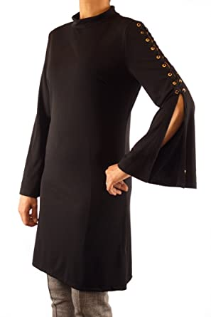 ModMod Women s Fall Dress for Work Lace Tie Sleeve Tunic Blouse Top ... bbb72e43d