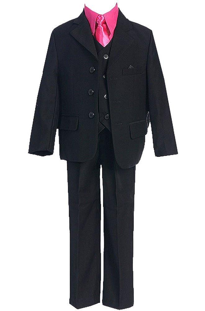 Fougerkids 5 Piece High Quality Big Boys Wedding Formal Suit