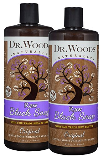 Dr. Woods Raw African Black Liquid Soap with Organic Shea Butter, 32 Ounce (Pack of 2) (Best Melt And Pour Soap For Acne)