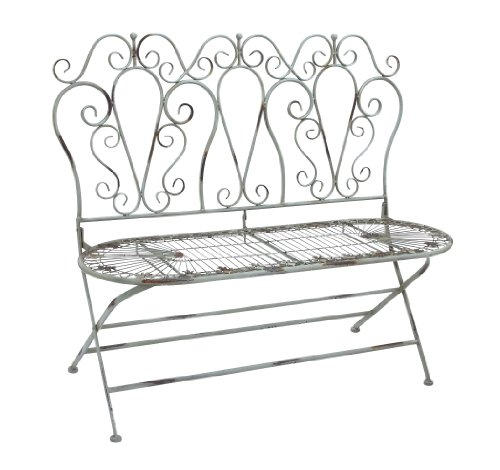 UMA Deco 79 Metal Love Chair, 44-Inch by 38-Inch, Set of 3