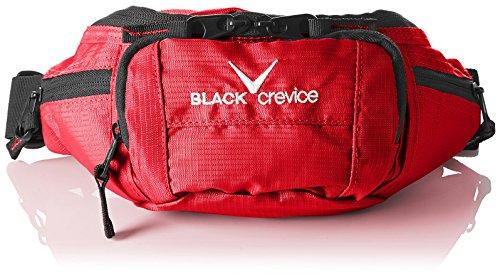 Black Crevice Riñonera Negro Rojo