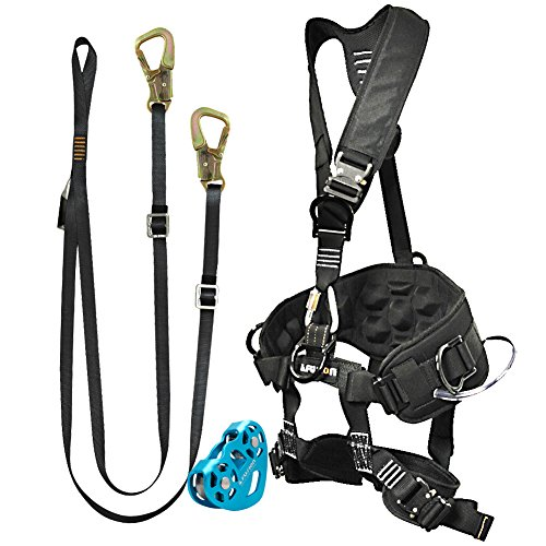 Fusion Climb Pro Backyard Zip Line Kit Harness Lanyard Trolley Bundle FK-A-HLT-11