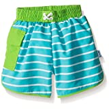 i play. Baby Boys' Pocket Board Shorts W/Built-in Reusable Absorbent Swim Diaper