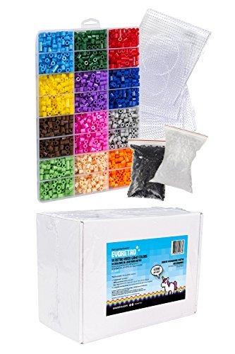 evoretroピクセルアートセット( Large Kit )カラフルビーズ作成2d Pixelated壁アート、レトロビデオゲーム文字、動物、デザイン、ファッションアクセサリー 芸術的ツールAges 6+