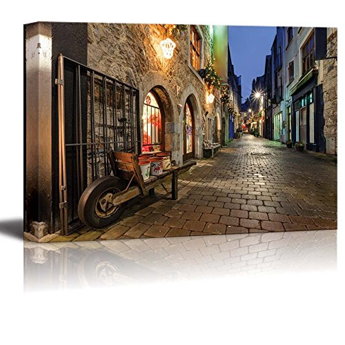 - wall26 - Canvas Prints Wall Art - Old Street in Galway City | Modern Wall Decor/Home Decoration Stretched Gallery Canvas Wrap Giclee Print. Ready to Hang - 12