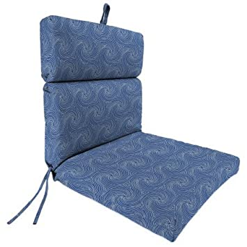 Jordan Manufacturing Outdoor Patio Chair Cushion, Nabil Nautical