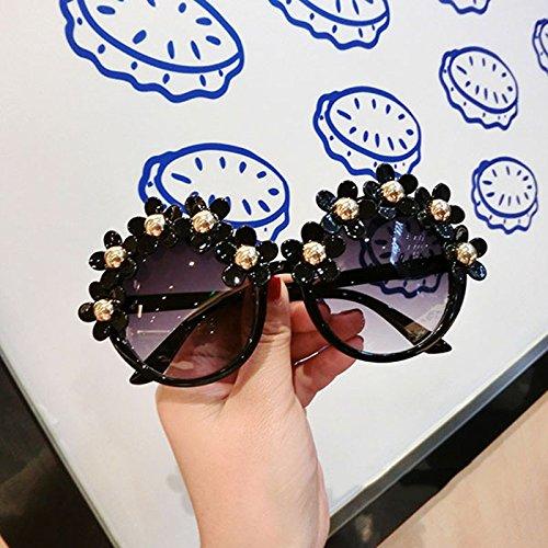 protecciónn de Resort mujer Flowers sol LYM mujer amp;Gafas para amp; Color Round 6 Gafas Gafas de Fashion 5 sol de Beach X4 para tqEtFwA