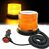 LED Strobe Light - Big Ant Amber 48 LED Warning Lights Safety Flashing Strobe Lights with Magnetic for Most Vehicle Trucks Cars - Law Enforcement Emergency Hazard Beacon Caution Warning Snow Plow
