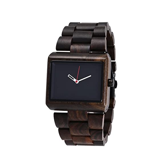Bambú reloj Spot al por mayor fábrica venta directa Business Classics - grande de madera de ébano Dial: Amazon.es: Relojes