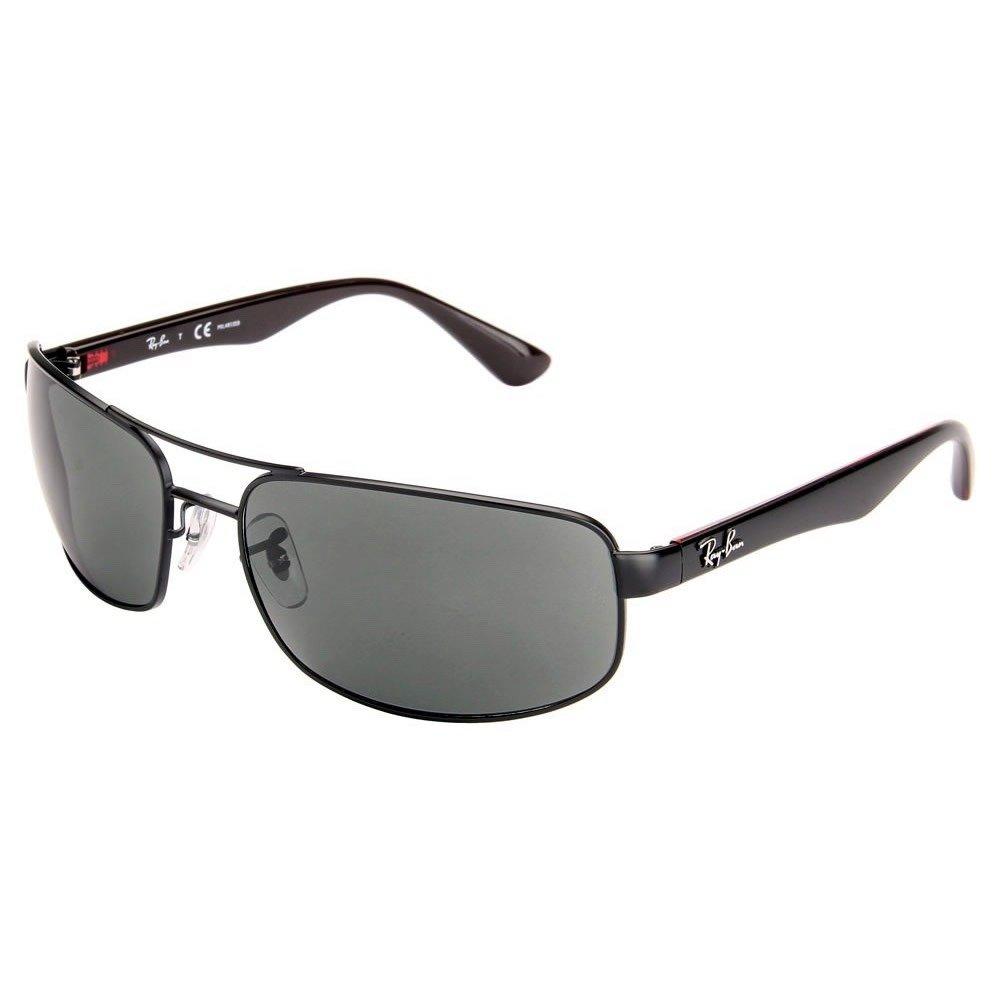 4d1bd93ca48 Amazon.com  Ray Ban RB3445 006 P2 61 Matte Black Gray Polarized Sunglasses  Bundle-2 Items  Clothing
