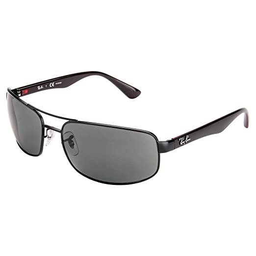 fad533999029e Image Unavailable. Image not available for. Color  Ray Ban RB3445 006 P2 64 Matte  Black Gray Polarized Sunglasses ...