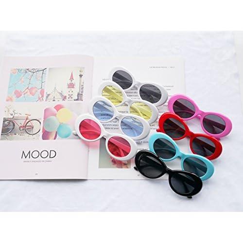 3465b85929 FOURCHEN Gafas de sol para mujer/hombre, Bold Retro Oval Mod Gafas de sol