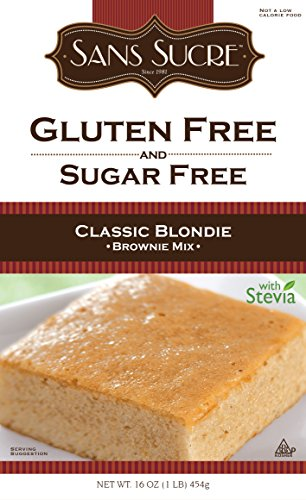 Sans Sucre Gluten Free and Sugar Free Classic Blondie Brownie Mix, 16 Ounce
