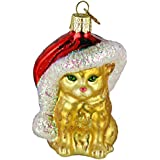 Old World Christmas Santa's Kitten Glass Blown Ornament
