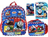 Thomas The Train & Friends School Set | Boys Backpack with Lunch Box Bag, Imagine Ink Coloring Book with Marker Included and Activity Pouch | Lightweight, Insulated, Durable and Mess Free