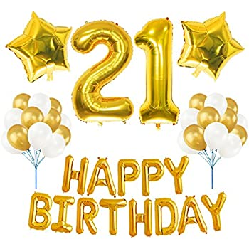 21st birthday decorations package 21 balloon