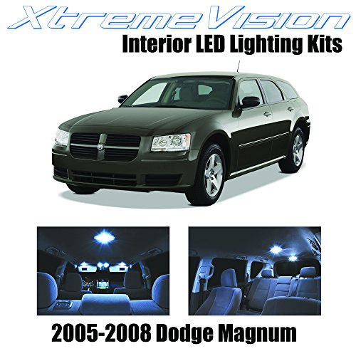 XtremeVision Interior LED for Dodge Magnum 2005-2008 (7 Pieces) Cool White Interior LED Kit + Installation Tool
