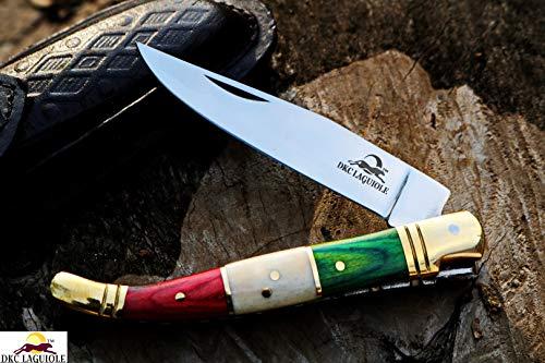 DKC-316-K-440c Italian Flag Laguiole King 440c Stainless Steel Folding Pocket Knife 4
